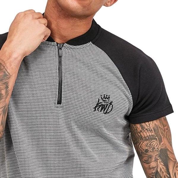 Kings Will Dream Carson 1//4 Zip Black White T-shirt
