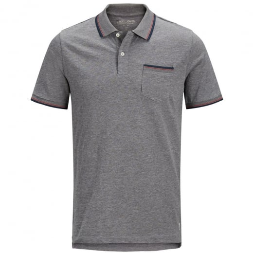 Jack & Jones Premium Winston Polo Grey Melange