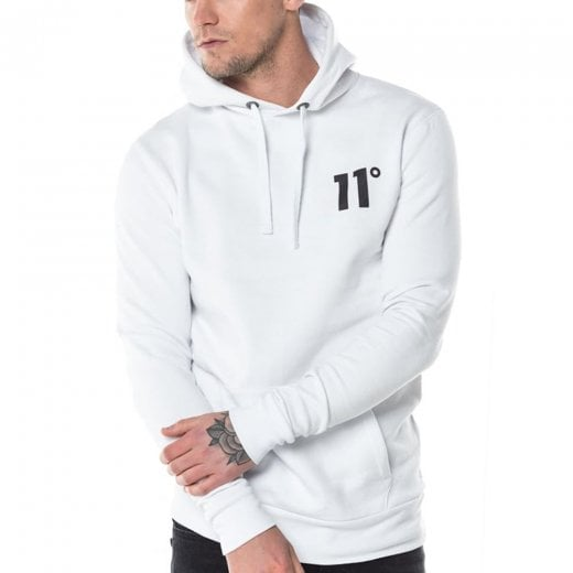 11 Degrees Core Pullover Hoodie White