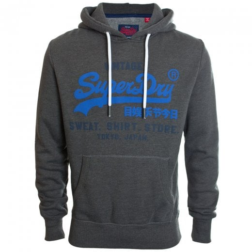 Superdry Sweat Shirt Shop Duo Hoodie Winter Charcoal Marl