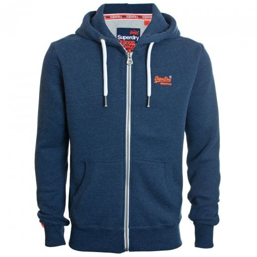Superdry Orange Label Zip Hoodie Montana Blue Grit