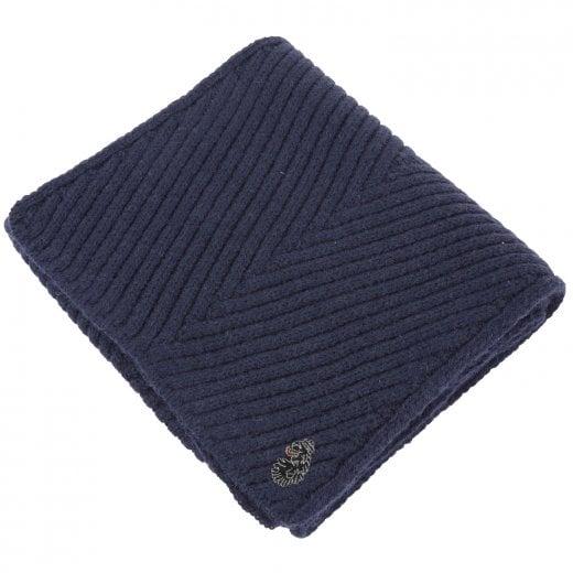 Luke 1977 Rulston Knitted Scarf Navy