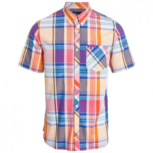 Fred Perry M5561 Madras Check S/S Shirt Red