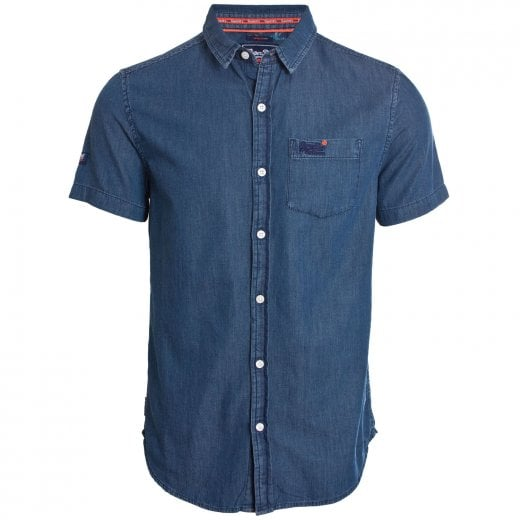 Superdry Miami Loom S/S Shirt Oil Blue Wash