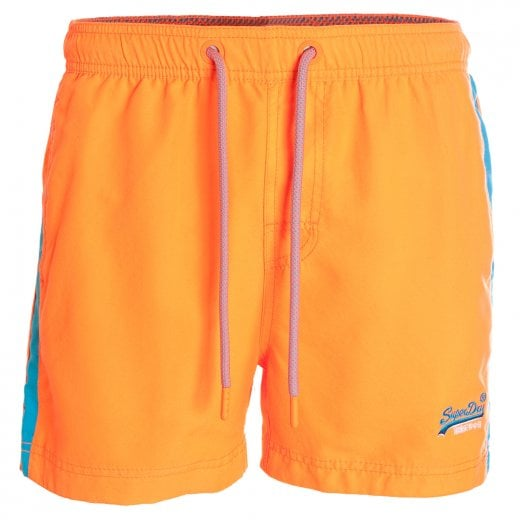 Superdry Beach Volley Swim Shorts Sunblast Orange