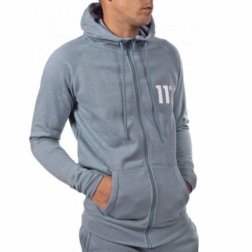11 Degrees Core Zip Hoodie Sleet Marl