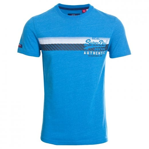 Superdry Vintage Authentic Chest Stripe T-Shirt Riviera Royal Marl