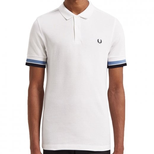 Fred Perry M4566 Bold Cuff Polo White