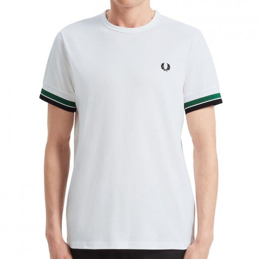 Fred Perry M7539 Bold Tipped T-Shirt White