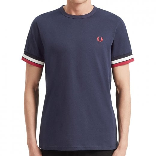Fred Perry M7539 Bold Tipped T-Shirt Carbon Blue