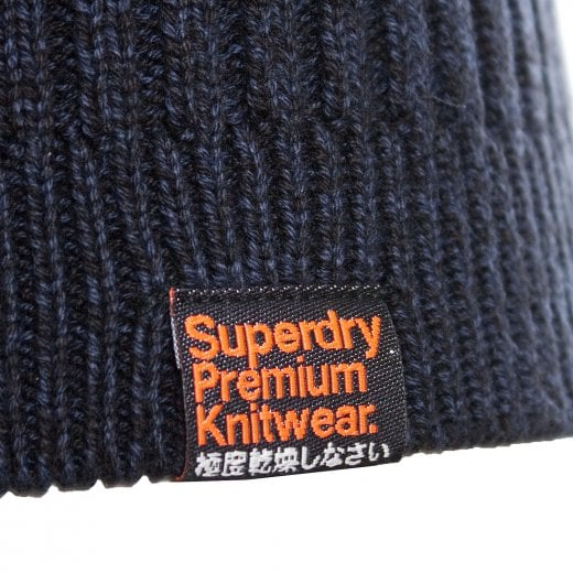 Superdry Keystone Crew Neck Knitwear Navy Twist