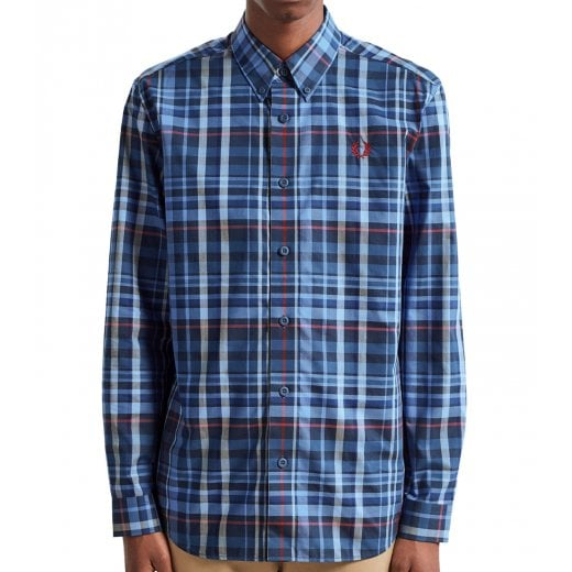 Fred Perry M7566 Check L/S Shirt Mignight Blue