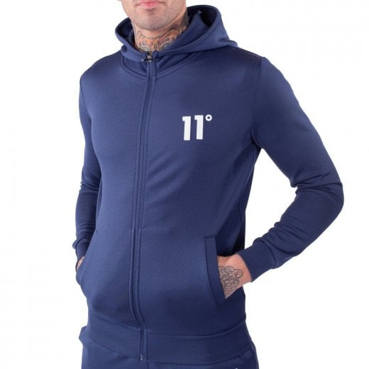 11 Degrees Core Poly Zip Hoodie Insignia