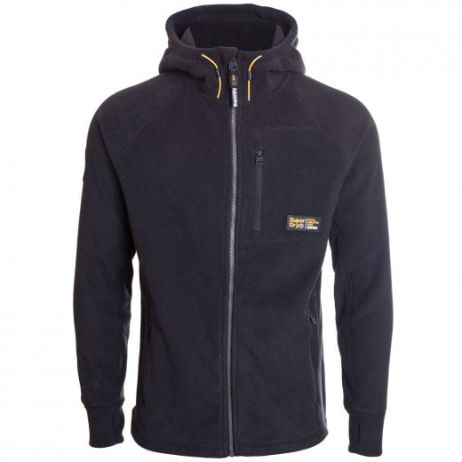 Superdry Polar Fleece Zip Hoodie Black