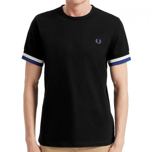 Fred Perry M7539 Bold Tipped T-Shirt Black