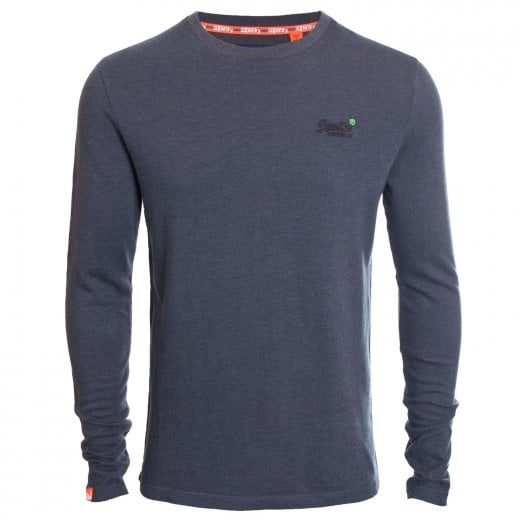 Superdry Orange Label Twill Texture L/S Top Hot Magma