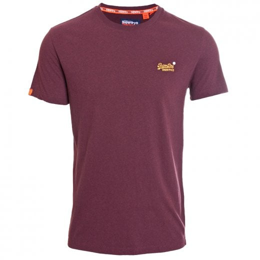 Superdry Orange Label Embroidery T-Shirt Buck Burgundy Marl