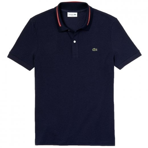 Lacoste PH8522 Striped Accent Polo Navy