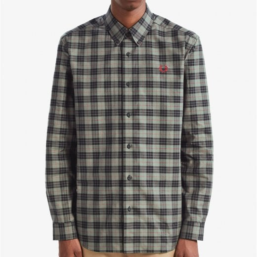 Fred Perry M7557 Tartan L/S Shirt Charcoal