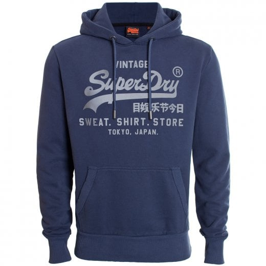 Superdry VL Shirt Shop Bonded Hoodie Lauren Navy