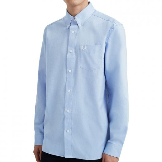 Fred Perry M8501 Oxford Shirt Light Smoke