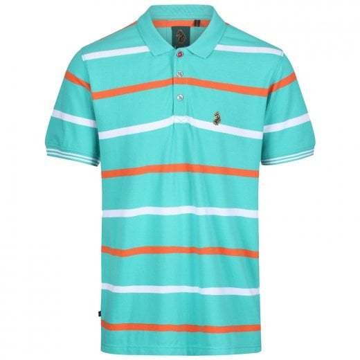 Luke 1977 Stripe New Mead Polo Washed Turquoise