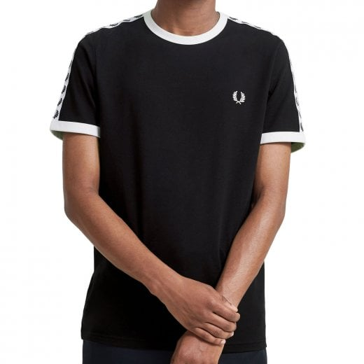 Fred Perry M6347 Taped Ringer T-Shirt Black