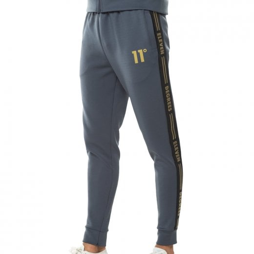 11 Degrees Taped Poly Track Bottoms Anthracite/Gold