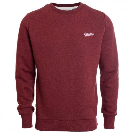 Superdry Orange Label Classic Sweatshirt Rich Red Grit