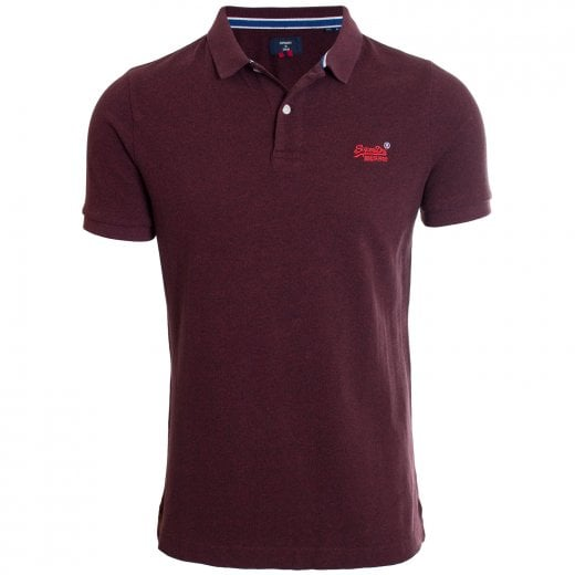 Superdry Classic Pique Polo Deepest Burgundy Grit