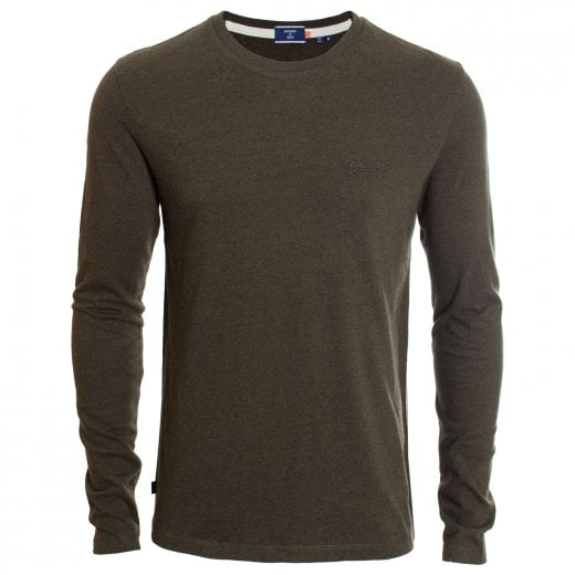 Superdry OL Vintage Embroidery L/S T-Shirt Winter Khaki Grit