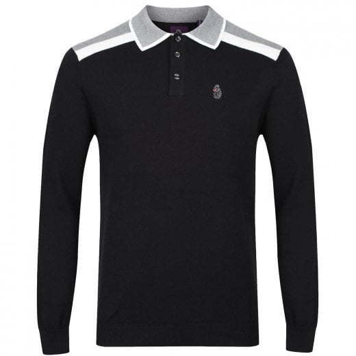 Luke 1977 Oh Yeah Oh Yeah L/S Knitted Polo Black