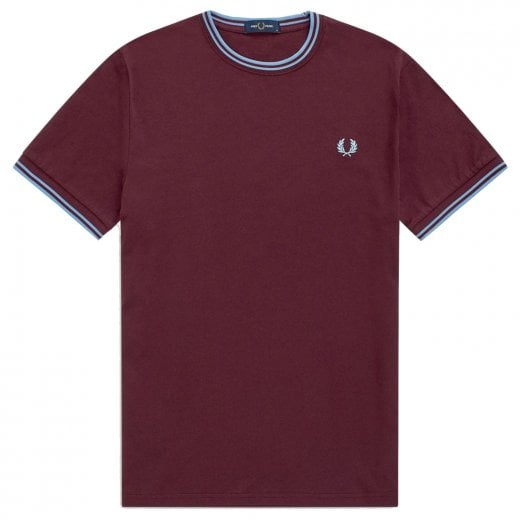 Fred Perry M1588 Twin Tipped T-Shirt Mahogany