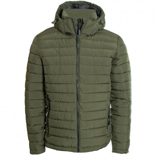Superdry Hooded Fuji Jacket Army Khaki