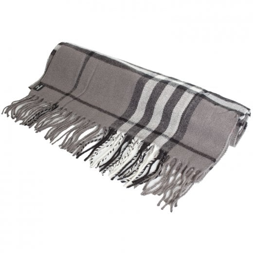 Superdry NYC Scarf Charcoal Check