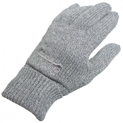 Superdry Orange Label Gloves Storm Cloud Grey Grit