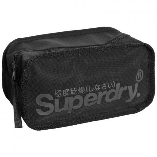 Superdry Combray Tarp Washbag Black