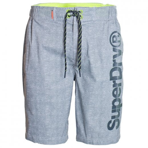 Superdry Classic Boardshorts Silver Grey Grit