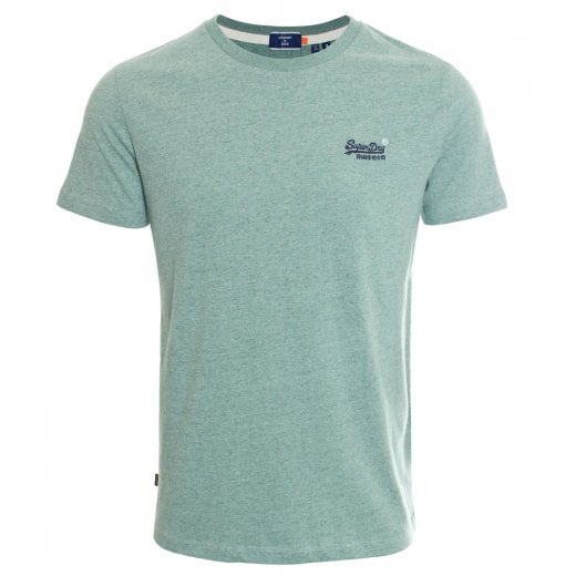 Superdry OL Vintage Embroidery T-Shirt Seagrass Green Grit