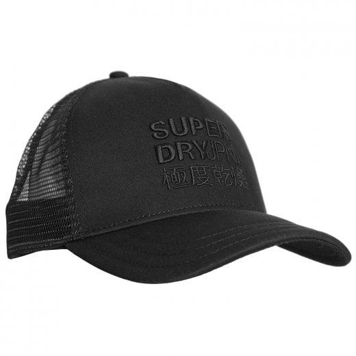 Superdry Logo Trucker Cap Black