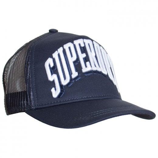 Superdry Sports Tri Logo Trucker Cap Eclipse Navy