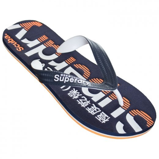 Superdry Classic Scuba Flip Flops Navy