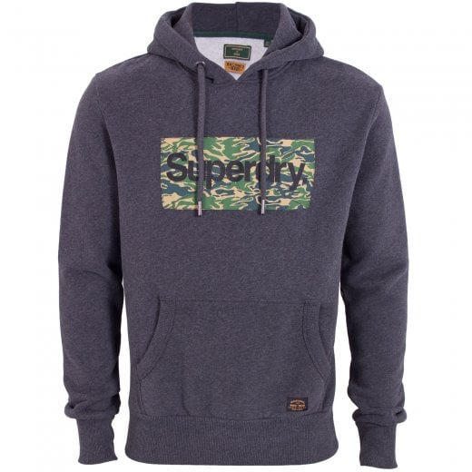 Superdry CL Canvas Hoodie Charcoal Marl