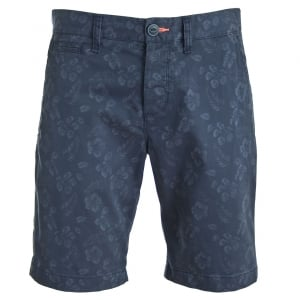 Superdry International Globe Trotter Shorts Mono Hibiscus Navy