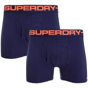 Superdry Sport Boxer Double Pack Richest Navy