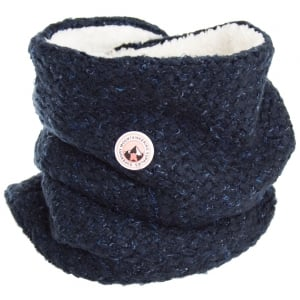 Superdry Ladies Clarrie Stitch Snood Navy