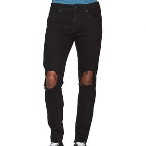 Only & Sons Warp Coloured Skinny Jeans Black