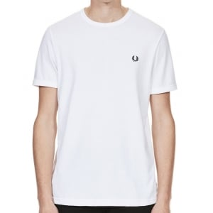 Fred Perry M3519 Ringer T-Shirt White
