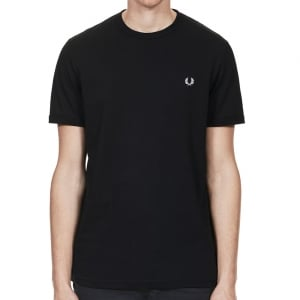 Fred Perry M3519 Ringer T-Shirt Black