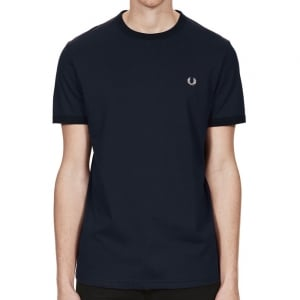 Fred Perry M3519 Ringer T-Shirt Navy